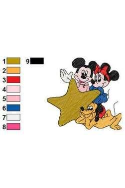motif Minnie et Mickey